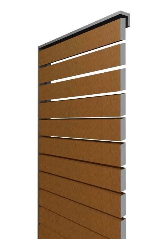 SKIRPUS Schiebeläden mit horizontalen Holzlamellen, Model 1, Zeichnung