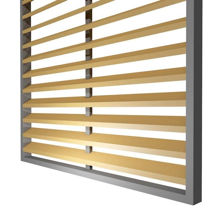 SKIRPUS Holzschiebeläden - Modell 5 Zeichnung