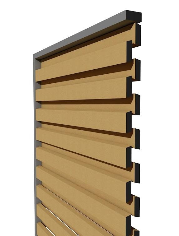 SKIRPUS Holzschiebeläden - Modell 6