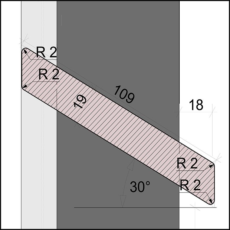 SKIRPUS Holzschiebeläden - Modell 2, Lamellen Bemessung