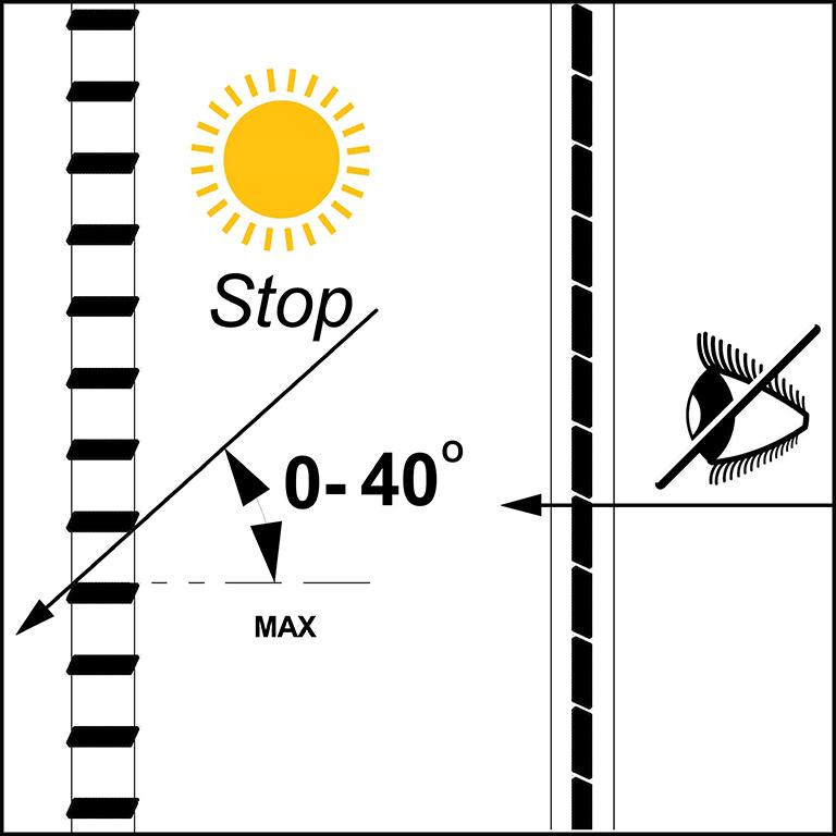 SKIRPUS Holzschiebeläden - Modell 4 mit beweglichen Holzlamellen Seitenzeichnung, Sonnenschutz