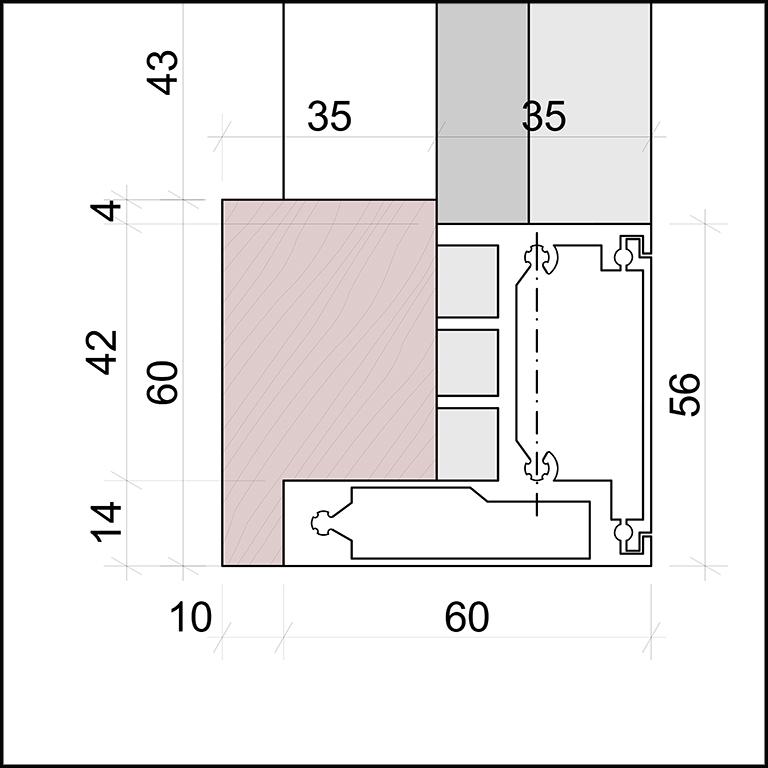 SKIRPUS Holzschiebeläden - Modell 3, Lamellen Bemessung