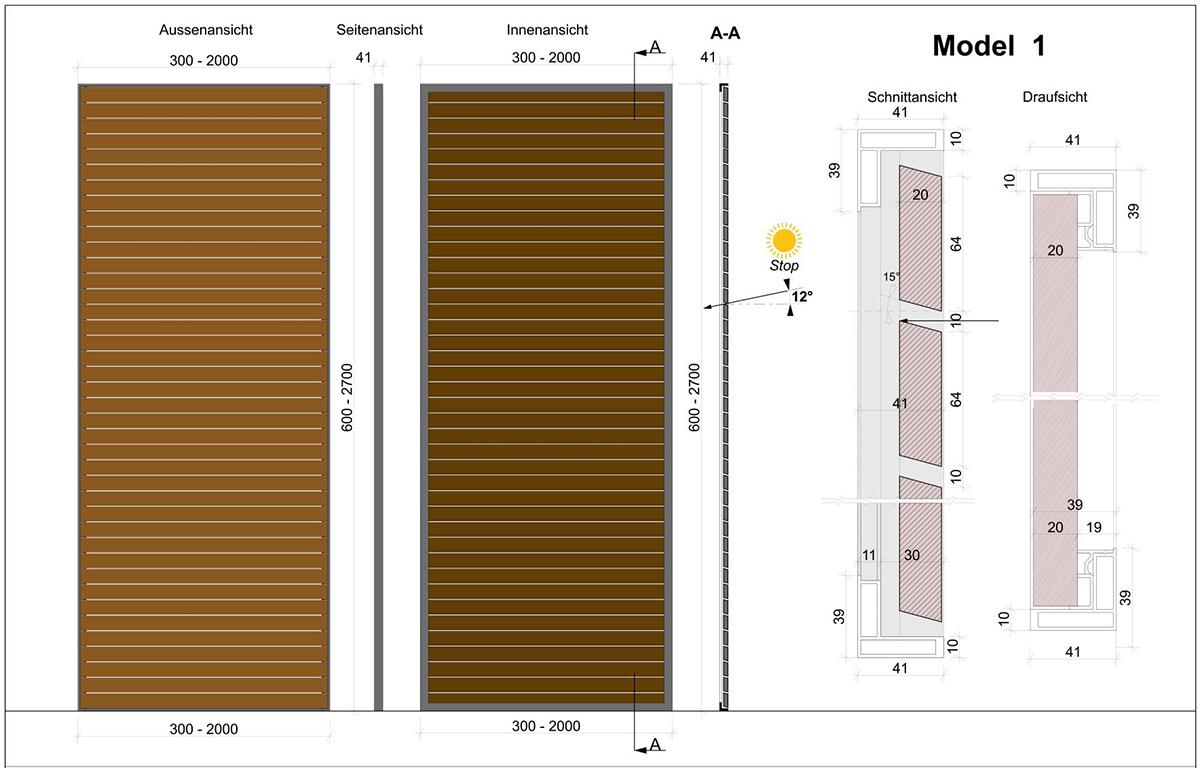 Skirpus Schiebeläden Model 1 - Schaltpläne